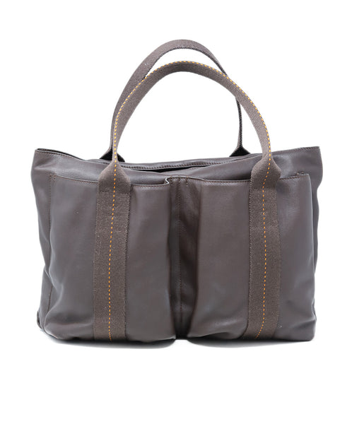 Hermes Caravan Horizontal MM Brown Leather Tote