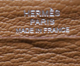 Hermes Brown Leather Wallet With Embroidery 8