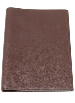 Hermes Brown Leather Medium Agenda Cover 1