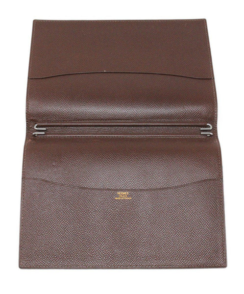 Hermes Brown Leather Medium Agenda Cover 3