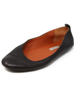 Hermes Brown Leather Slippers