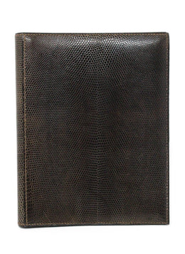 Hermes Brown Lizard Leather Large Agenda Cover 1