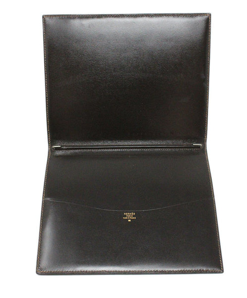 Hermes Brown Lizard Leather Large Agenda Cover 3