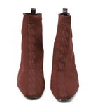 Hermes Brown Nylon Spandex Knit Booties 2