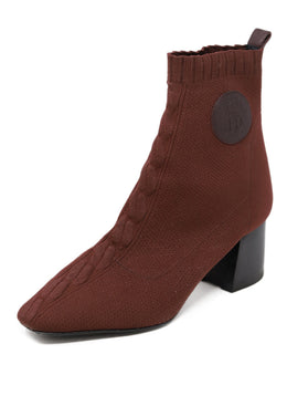 Hermes Brown Nylon Spandex Knit Booties