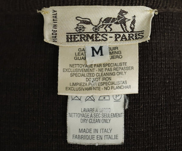 Hermes Brown Suede Wool Button Jacket 4