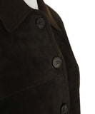 Hermes Brown Suede Wool Button Jacket 5