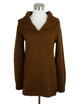 Hermes Brown Tobacco Alpaca Sweater 1