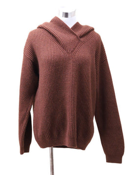 Hermes Brown Yak Hair Sweater