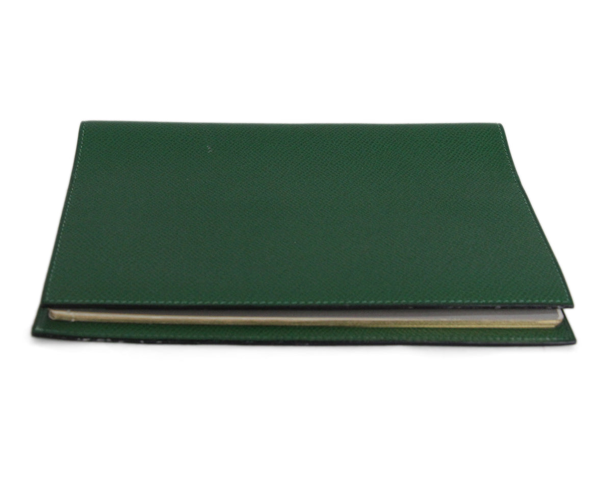 Hermes Green Leather notebook with pad 4
