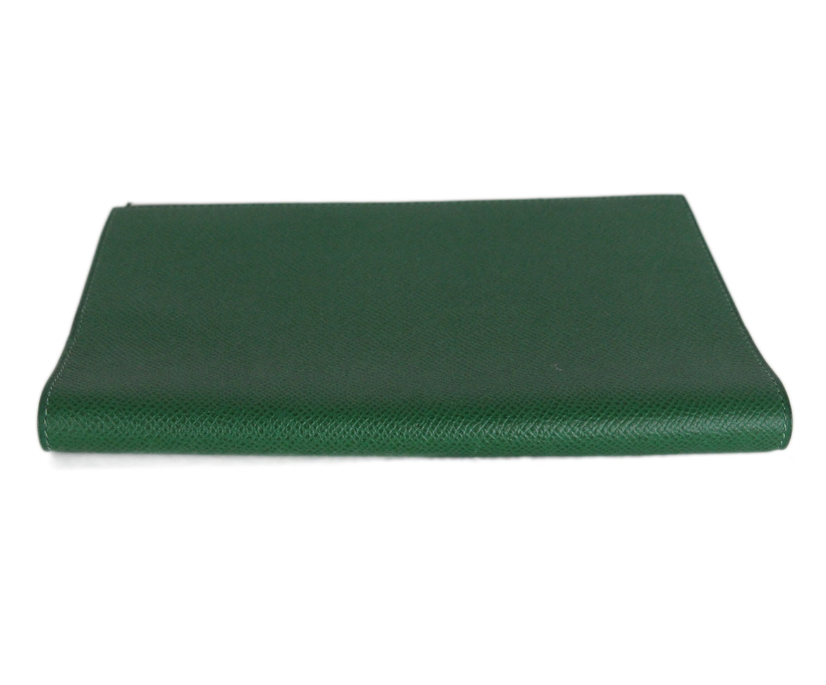Hermes Green Leather notebook with pad 5