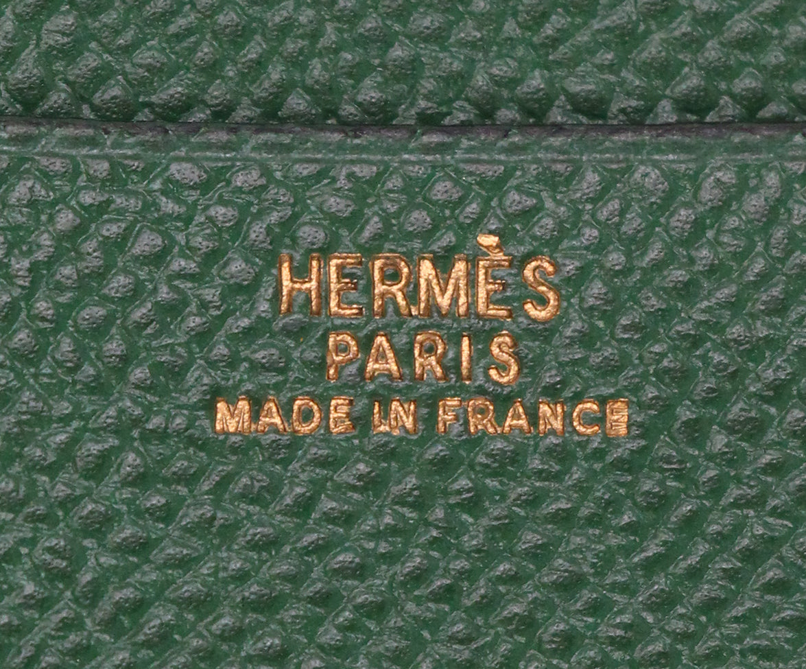 Hermes Green Leather notebook with pad 7