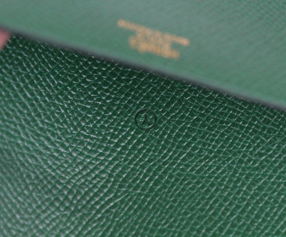 Hermes Green Leather notebook with pad 8