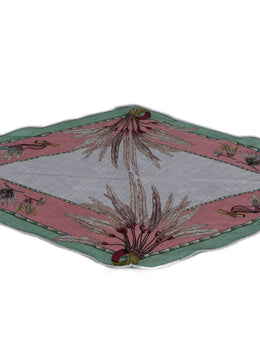 Hermes Green Pink Grey Cashmere Silk Scarf 1