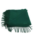 Hermes Green Forest Wool Fringe Scarf 1