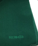 Hermes Green Forest Wool Fringe Scarf 2
