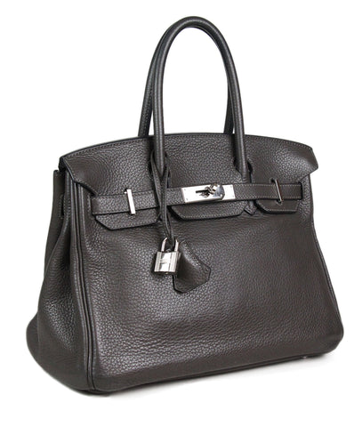 Hermes Grey Handbag Birkin Bag 1