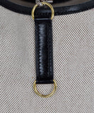 Hermes Black Beige Canvas Leather Vintage Trim Bag Handbag 9