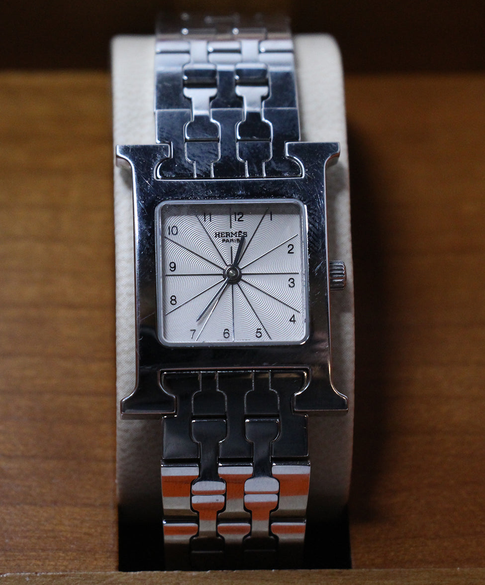 Hermes Huere H Stainless Steel Watch 1