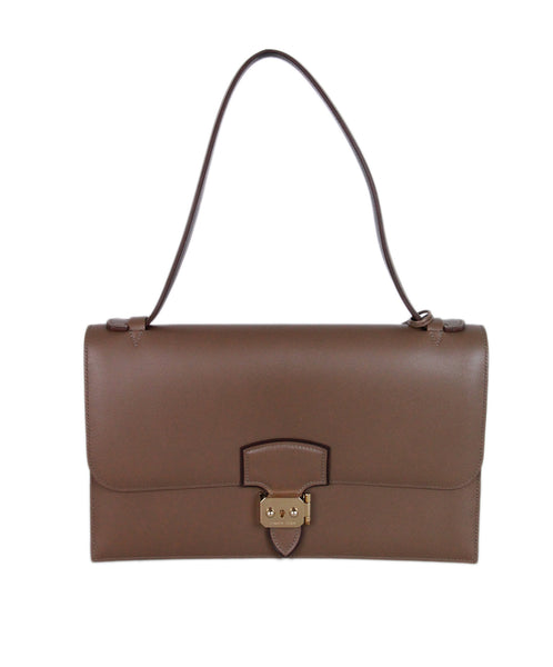 Hermes Illico Elan Bag Taupe Leather Satchel 1