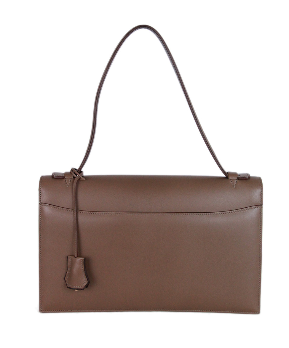 Hermes Illico Elan Bag Taupe Leather Satchel 3