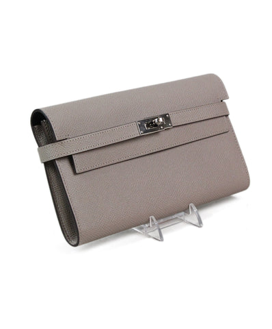 Hermes Kelly Classic Wallet Taupe Wallet 1
