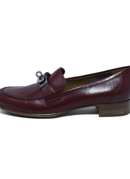 Hermes Red Burgundy Kelly Leather Loafers 2