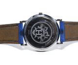 Hermes Blue Leather Watch