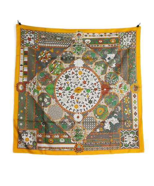 Hermes Marigold rust green collections imperiales scarf 4