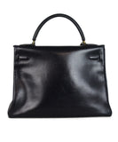 Hermes Navy leather 32cm Kelly bag 3