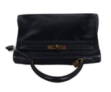 Hermes Navy leather 32cm Kelly bag 5