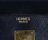Hermes Navy leather 32cm Kelly bag 7