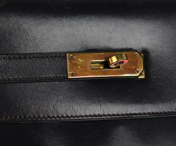 Hermes Navy leather 32cm Kelly bag 16