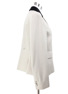 Hermes Neutral Beige Blazer with Black Velvet Collar 2