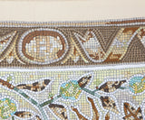 Hermes Vintage Neutral Yellow Silk Scarf with Pavement Animal Mosaic Print 8