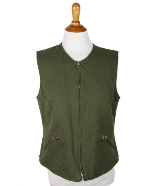 Hermes Green Cotton Vest Sz 10