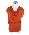 Hermes Orange Rust Cashmere Top