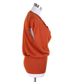 Hermes Orange Rust Cashmere Top 1