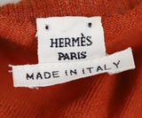 Hermes Orange Rust Cashmere Top 3