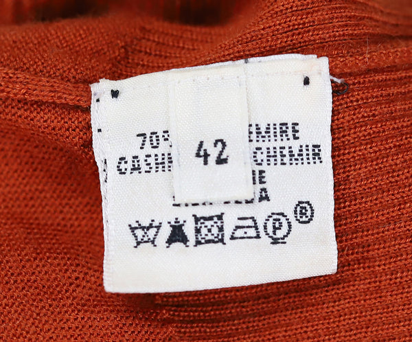 Hermes Orange Rust Cashmere Top 4