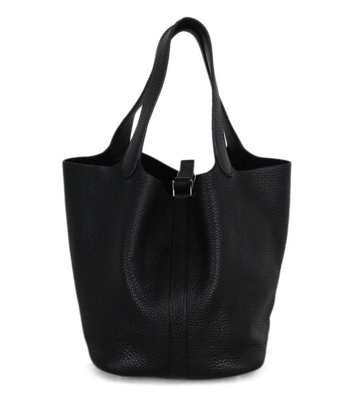 Hermes Picotin black leather bag 1