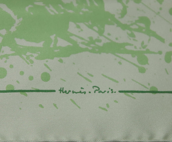 Hermes Green Cheval Surprise Print Silk Scarf 6
