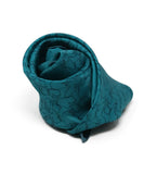 Hermes Teal Silk Pocket Square with Horse motif 2