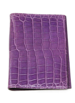 Hermes Purple Alligator Leather Agenda 1
