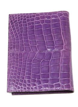 Hermes Purple Alligator Leather Agenda 2
