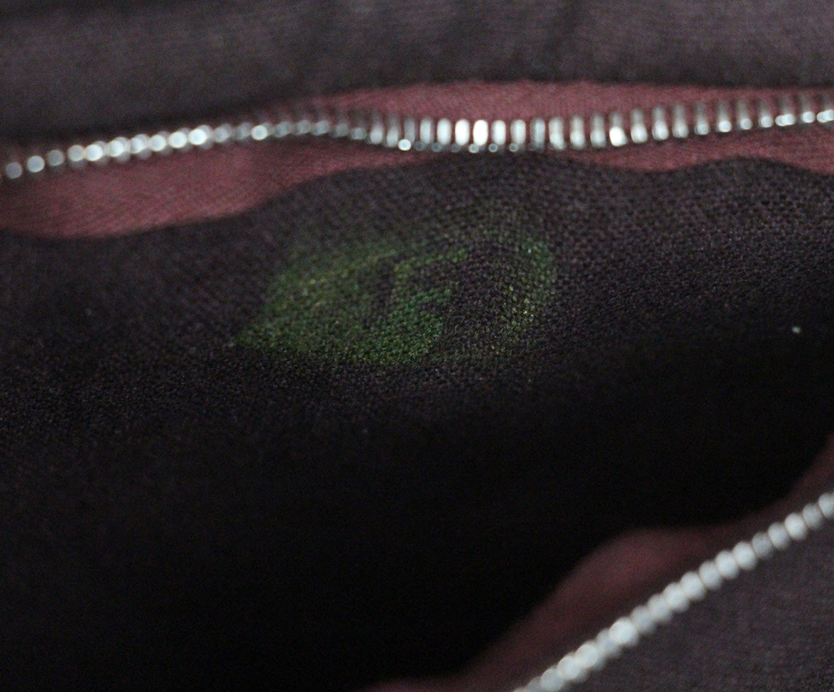 Hermes Red Burgundy canvas Hodall PM tote 7