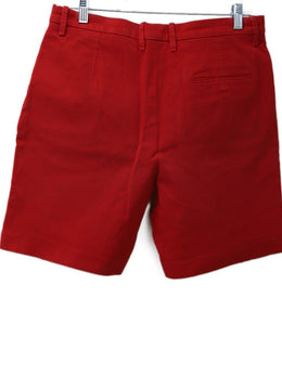 Hermes Red Cotton Shorts 1