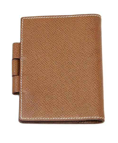 Hermes Brown Leather Mini Notebook 2