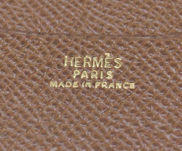 Hermes Brown Leather Mini Notebook 4