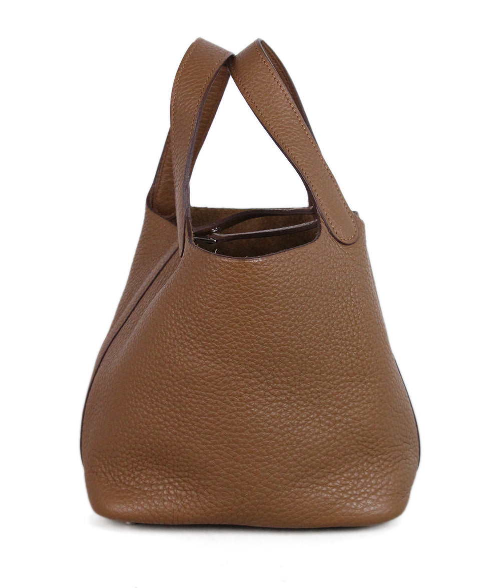 Hermes Tan Leather Picotin Bag 1